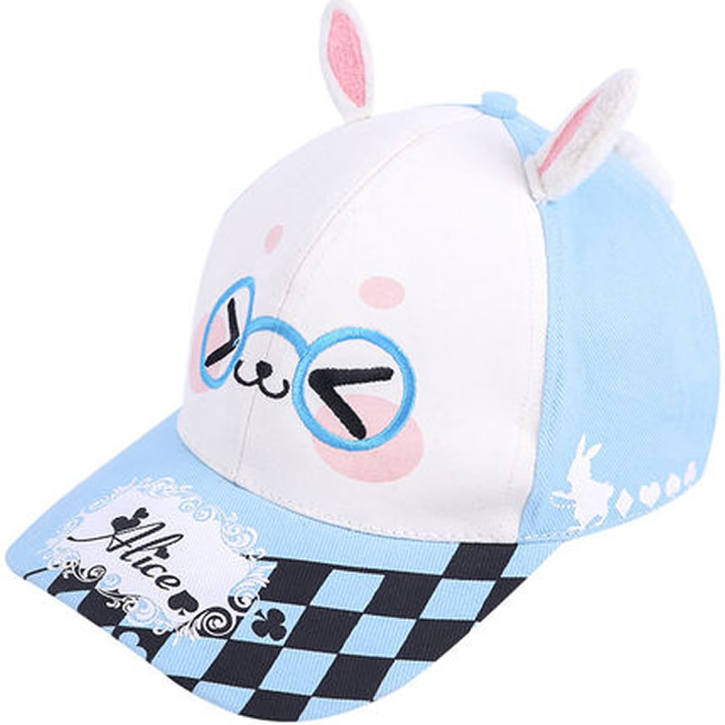 Anime Alice In Wonderland White Rabbit Bunny Snapback Baseball Cap Hat Costume Outstanding Features