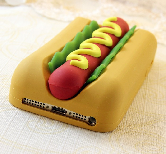 reputable site dfd01 7afe4 US $5.88 |New 3D Hotdog Phone Case Bread Hamburger Food Soft Silicone Back  Cover Shell Skin For Apple iphone 4 4S 4G 5 5S 5G on Aliexpress.com | ...