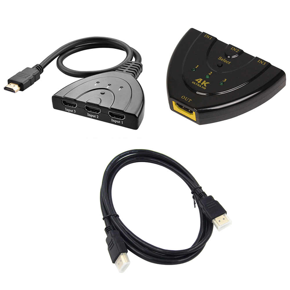 3 in 1 out Poort Hub HDMI Switch HDMI Splitter 3 Poorten Mini Switcher Kabel 1080 P voor DVD HDTV xbox PS3 PS4
