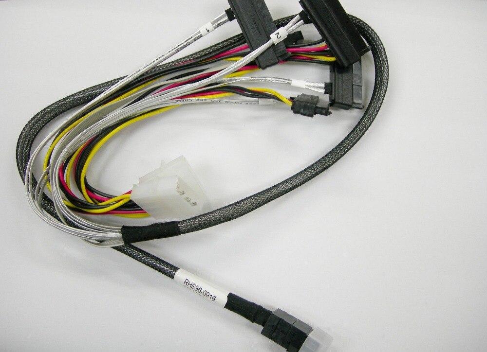 Trasporto di Alta Qualità Nuovo 80 cm Interno 12 GB MiniSAS Cavo Dati HD SFF-4 SFF-