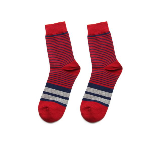 PEONFLY Novelty Colorful Wide Stripes Thin Striped Pattern Men Ventilation Cotton Socks Winter Male Fashion Business Dress Socks
