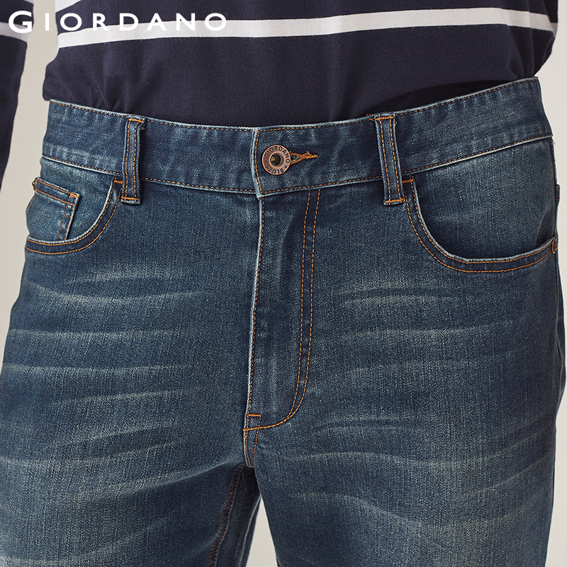 fotos oficiales 9c33a bbf92 € 26.33 38% de DESCUENTO|Giordano hombres Vaqueros clásico Denim Pantalones  Vaqueros Slim para hombres marca pantalones Vaqueros Hombre Calca ...