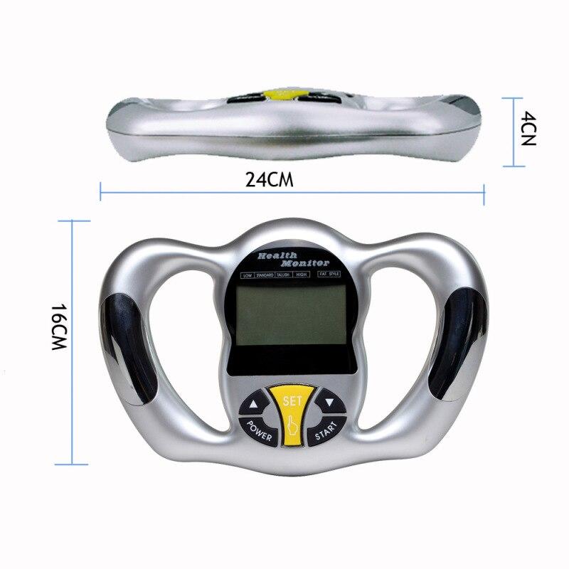Fat Tester Health Monitor Body Fat Monitors Handheld Digital Calorie Calculator Analyzer Weight Meter Adipose Measuring L3
