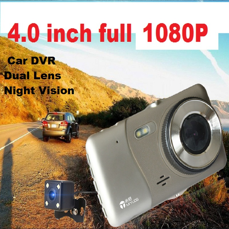 H30 4.0 inch HD 1080P Car DVR Dual Lens Night Vision Cam Dash Vehicle Video Recorder with Rear Camera FREE 16GB TF Card anstar 3 car dvr dual lens car camera dvr rear view camera mirror blackbox dash cam night vision dashcam car recorder registrar