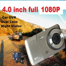 H30 4.0 inch HD 1080P Car DVR Dual Lens Night Vision Cam Dash Vehicle Video Recorder with Rear Camera FREE 16GB TF Card