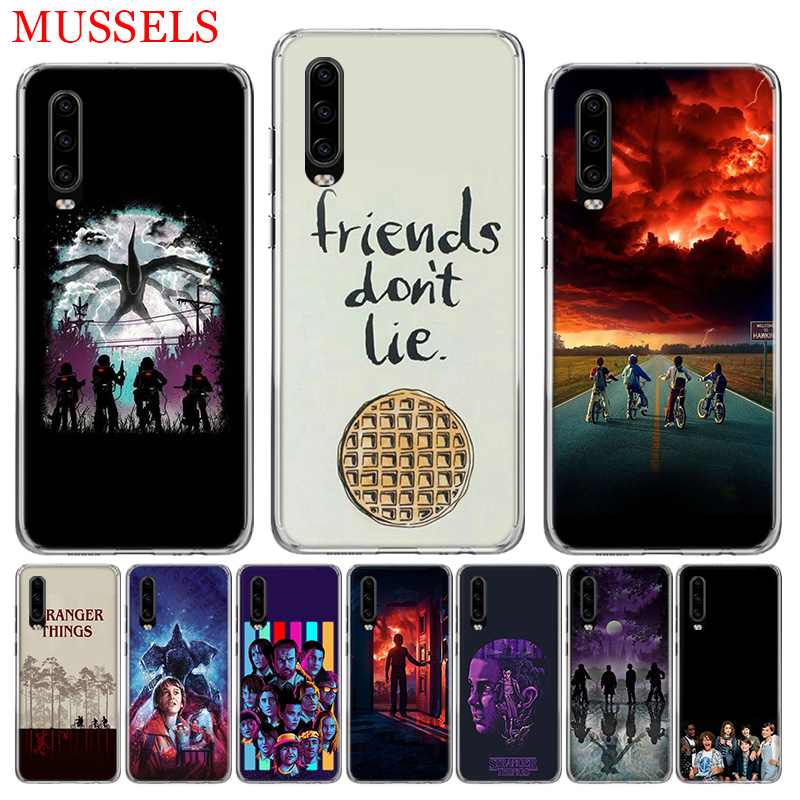 Stranger Things Poster Phone Case for Huawei P30 P20 Mate 20 10 Pro P10 Lite P Smart Plus 2019 Customized Cover Cases Coque in Half wrapped Cases from Cellphones Telecommunications
