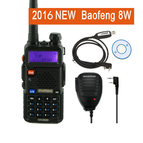 Baofeng UV-5R 8W Walkie Talkie UV8HX Dual Band Ham Radio,Sister Baofeng 82 uv82 GT-3 Markiii UV-5X UV-82 BF-F8 +Mic+Cable
