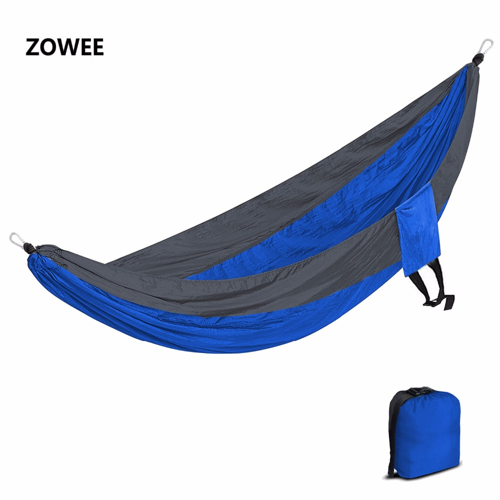 Double Person Hammock Parachute Portable Outdoor Camping Indoor Home Garden Sleeping Hammock Bed 300kg Max Loading Free Shipping 2017 2 people hammock camping survival garden hunting travel double person portable parachute outdoor furniture sleeping bag