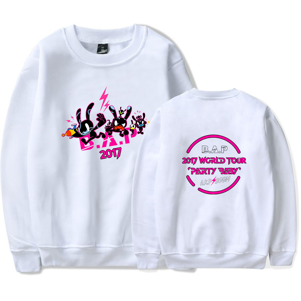 B.A.P Best Fans Sweatshirt Hip Hop Popular Clothes Absolute Perfect Print Capless Sweatshirts Women/men XXS To 4XL