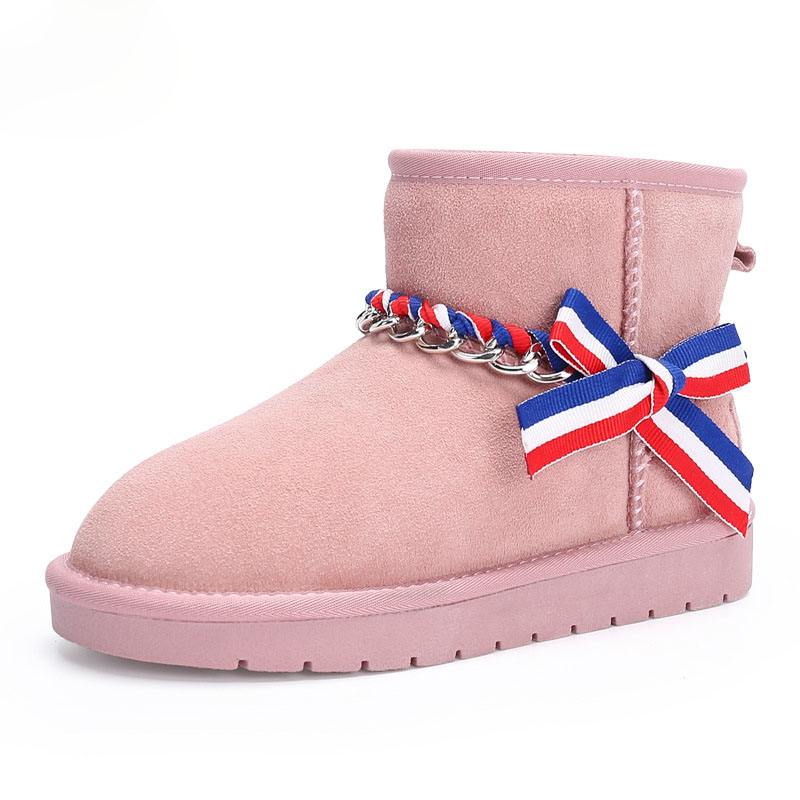 2017 Plush snow boots for girls new winter boots children warm non slip shoes kids size 26-37 Children Ankle shoe 2016 new winter kids snow boots children warm thick waterproof martin boots girls boys fashion soft buckle shoes baby snow boots