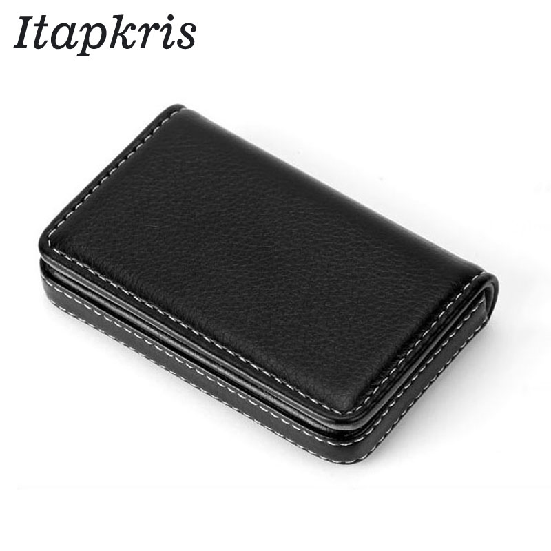 Itapkris Men PU Bank Credit Card Holder Large Capacity Business Document  ID Card Case Slim RFID Blocking Bus Card Women