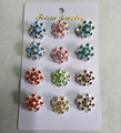 Brooch Muslim Hijab Brooches Wholesale 12PCS Crystal Broche Muslim For Women Safety Scarf Pins Hijab Pins Mixed Color