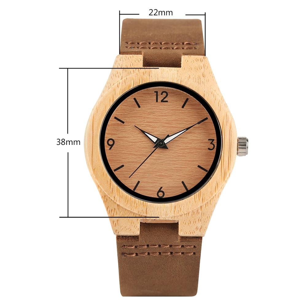 YISUYA Simple Ladies Dress Bambusowy drewniany zegarek na rękę - Zegarki damskie - Zdjęcie 4