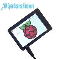 3.5 pulgadas de pantalla táctil + pastel de frambuesa Modelo 3B + tarjeta SD + disipador de calor