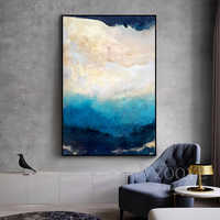 Abstract Modern Dreamy Color Canvas Painting Fashion Golden Poster And Print For Living Room Asile Bedroom Wall Art La imagen HD