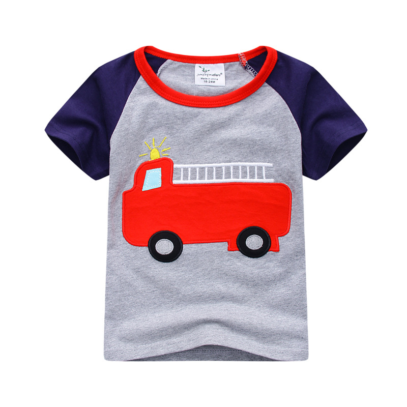 956f84d5c 2018 Brand Boys Tops Fashion Train Boys Clothes Kids Tops Designer ...