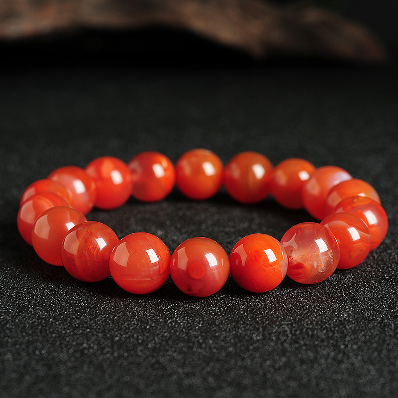 New Natural red bracelet 10mm bead Elastic line bracelet Hot Sale