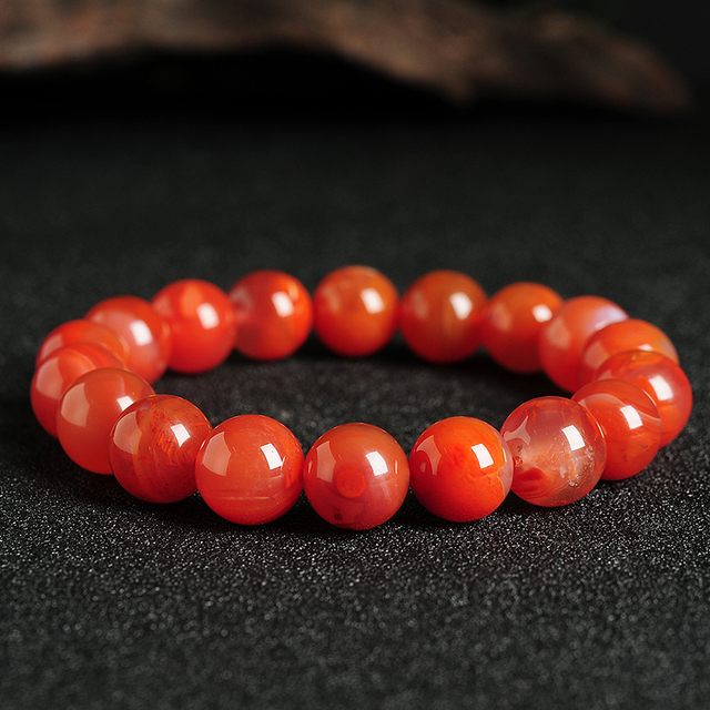 New Natural red  bracelet 10mm  bead Elastic line bracelet Hot Sale
