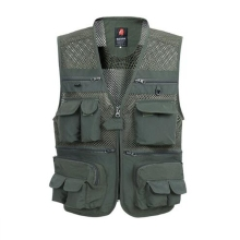 b Summer Mesh Vest For Men Spring Autumn Male Casual Thin Breathable Multi Pocket Waistcoat Mens Baggy 5XL Vest With Many Pocket multi pocket tactical vest black male vest outdoor male cs field equipment breathable mesh