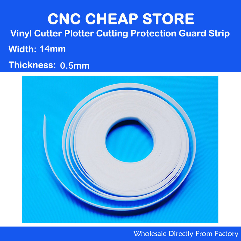 2000MM Length X 14mm Width 0.5mm Thickness Cutting Protection Guard Strip For Graphtec Mimaki Vinyl Cutting Cutter Plotter