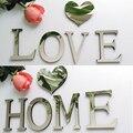 2019 nuevas pegatinas de pared diy 3d pegatina acrílica decoración regalo de boda letras de amor decoración de pared del alfabeto decorativo