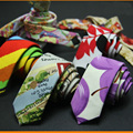 Los hombres Elegantes de Colores Flores de la Alta Calidad Flaco Corbatas Paisley TSBWT0007