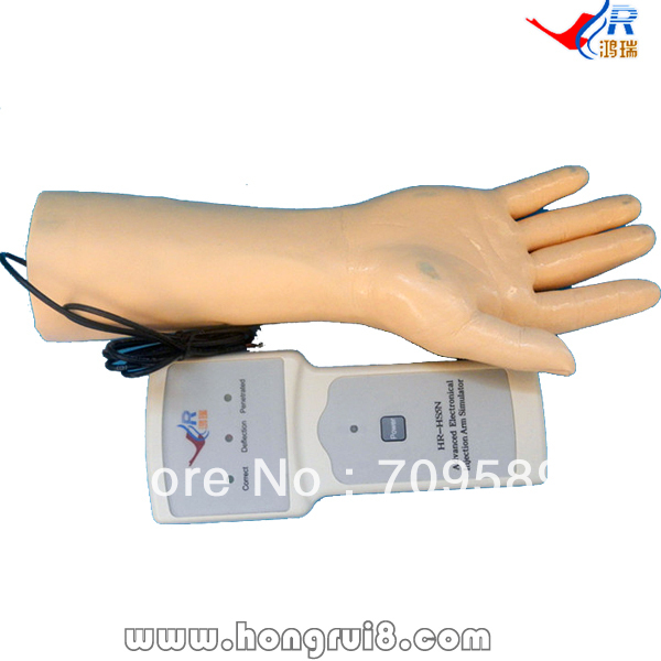 ISO IV Training Hand, Venipuncture Hand Model , IV Injection training model economic injectable training arm model with infusion stand iv arm injection teaching model