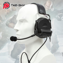 TAC-SKY COMTAC II silicone earmuff version electronic tactical hearing defense noise reduction sound pickup military headphones