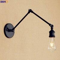 Black Antique Vintage Wall Lamp Home Lighting Loft Industrial Edison Wall Sconce Retro Adjustable Swing Long Arm Wall Light
