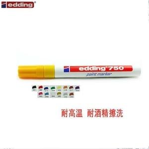 Image 2 - 4 قطعة ألمانيا EDDING 750 الطلاء الملونة قلم تحديد 2 مللي متر عالية الجودة الصلب علامة