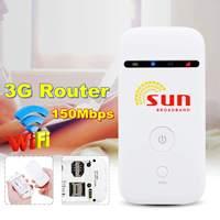Unlockeds MF65 150Mbps 3G Wireless Router 3G UMTS 21M Mobile Pockets WIFI Broadband 3G SIM Card Mifi Router