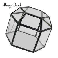 MagiDeal прозрачное стекло Террариум плантатор суккулентный растения контейнер настенный Орнамент 12 стиль PIICK