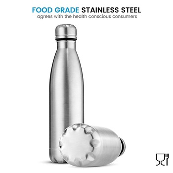 350/500/750/1000ml Double-Wall Insulated Vacuum Flask Stainless Steel Water Bottle Cola Water Beer Thermos for Sport Bottle 2