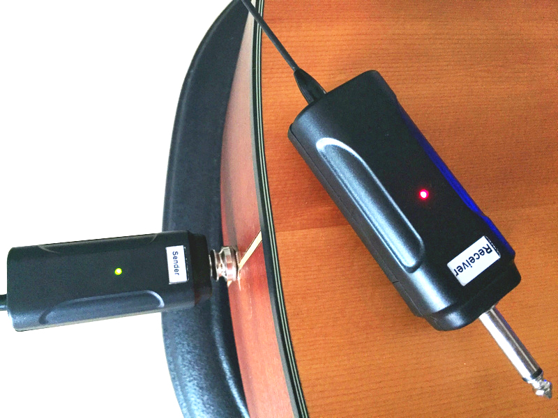 wireless guitar system wireless audio sender transmitter and receiver for acoustic guitar. Black Bedroom Furniture Sets. Home Design Ideas