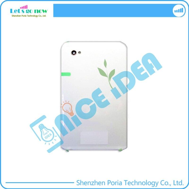 Flporia Подлинная хорошее качество для Samsung Galaxy Tab P1000 Батарея задняя крышка Корпус белый двойной карточки + Бесплатная Инструменты