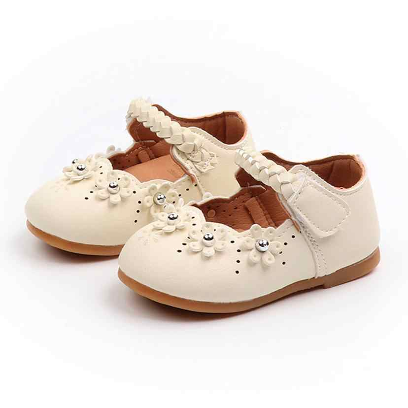 Arloneet Kids leather princess shoes Toddler Girls Autumn Flock Solid Shoes Sneakers l0817