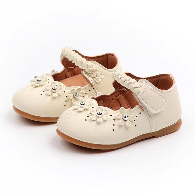 Arloneet 子供の革王女の靴の幼児女の子秋フロック靴スニーカー l0817