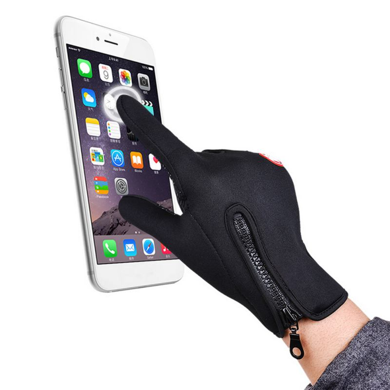 Outdoor Sports Cycling Gloves Windproof Skiing Touch Screen Warm Glove Comfortable Motorcycle Racing Gloves