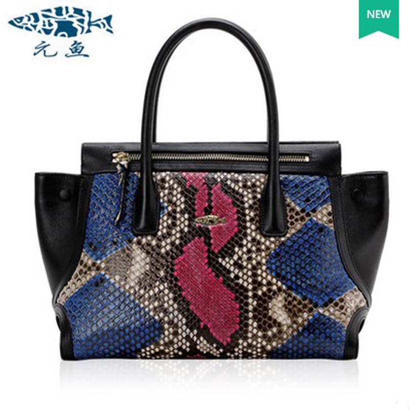 yuanyu 2018 new hot free shipping wings bag 2016 new python leather handbag lg snake skin women bag ladies handbag yuanyu 2018 new hot free shipping python skin women handbag single shoulder bag inclined female bag serpentine women bag