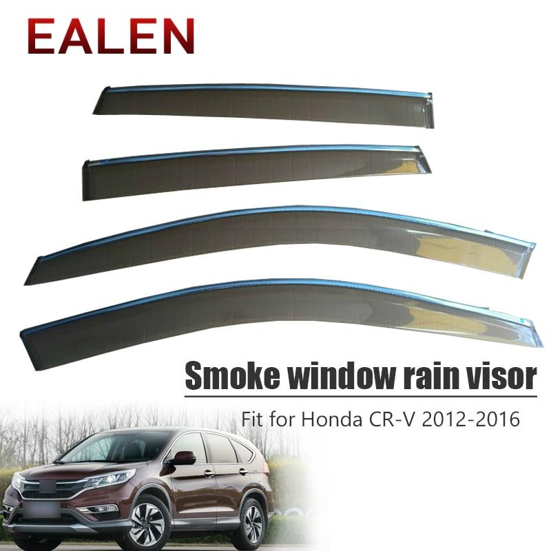EALEN For Honda CR-V 2012 2013 2014 2015 2016 Vent Sun Deflectors Guard ABS car accessories 4Pcs/1Set Smoke Window Rain Visor