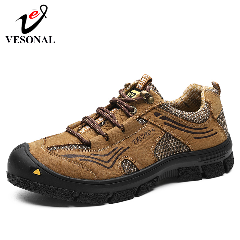 VESONAL Brand 2019 Male Sneakers Shoes For Men Adult Non Slip Casual Footwear Outdoor Comfortable Breathable