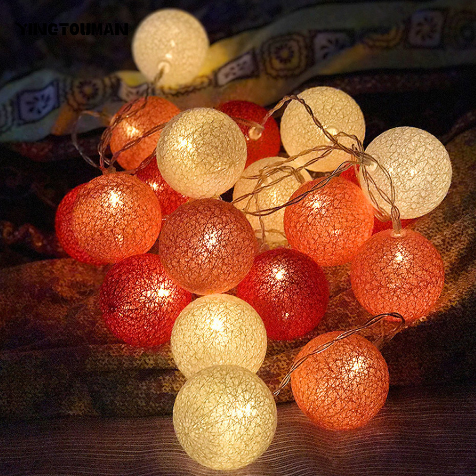 YINGTOUMAN Battery Model LED String Light Waterproof 10LED Holiday String Lighting Christmas Light Party Outdoor Decoration 1.5m