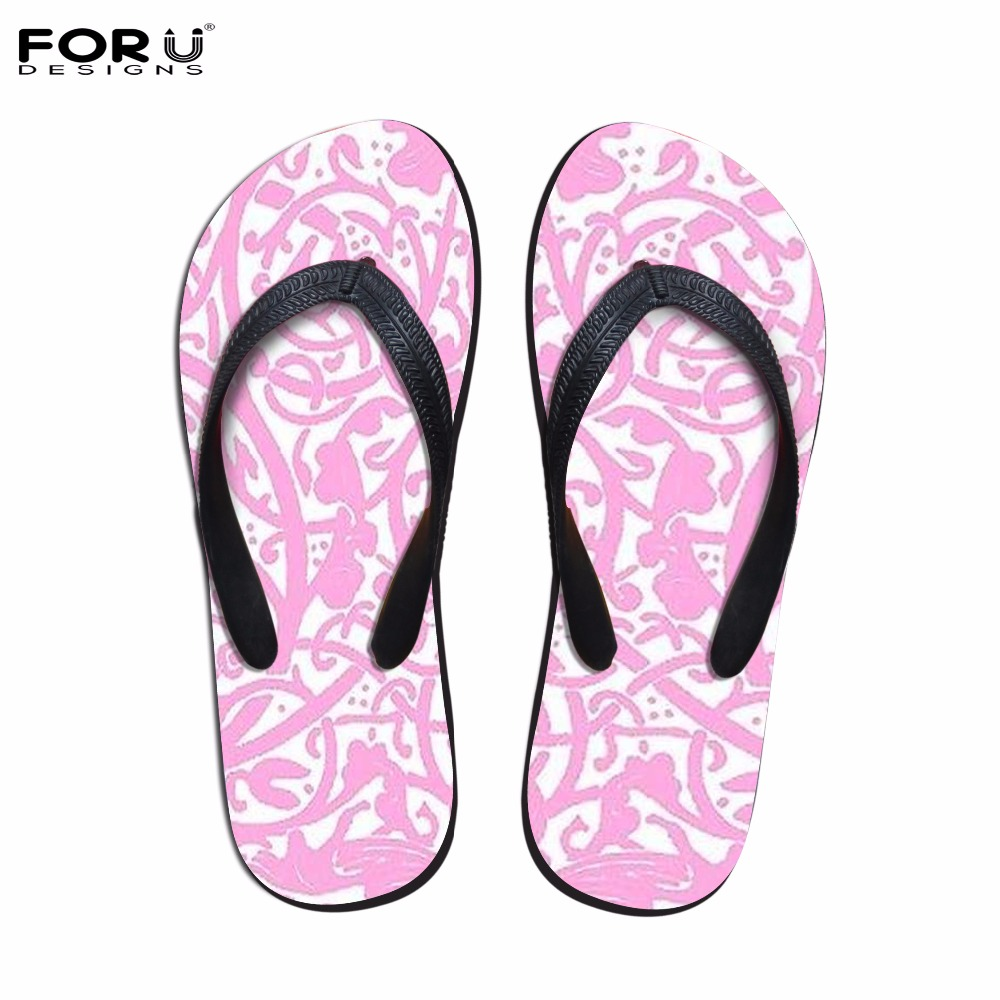 FORUDESIGNS Pink Women Lace-up Flip Flops Fashion Summer Women's House Slippers Casual Slip-on Beach Shoes Flats Sandals Woman aakt brand fashion casual women shoes string bead women summer sandals shoes flats lady cute flip flops women slippers