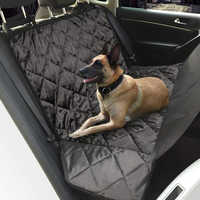 Luxury 2 in1 Waterproof Car Rear Back Seat Cover Carrier and Back Cover of SUV for Pet dogs and cats car-detector bed