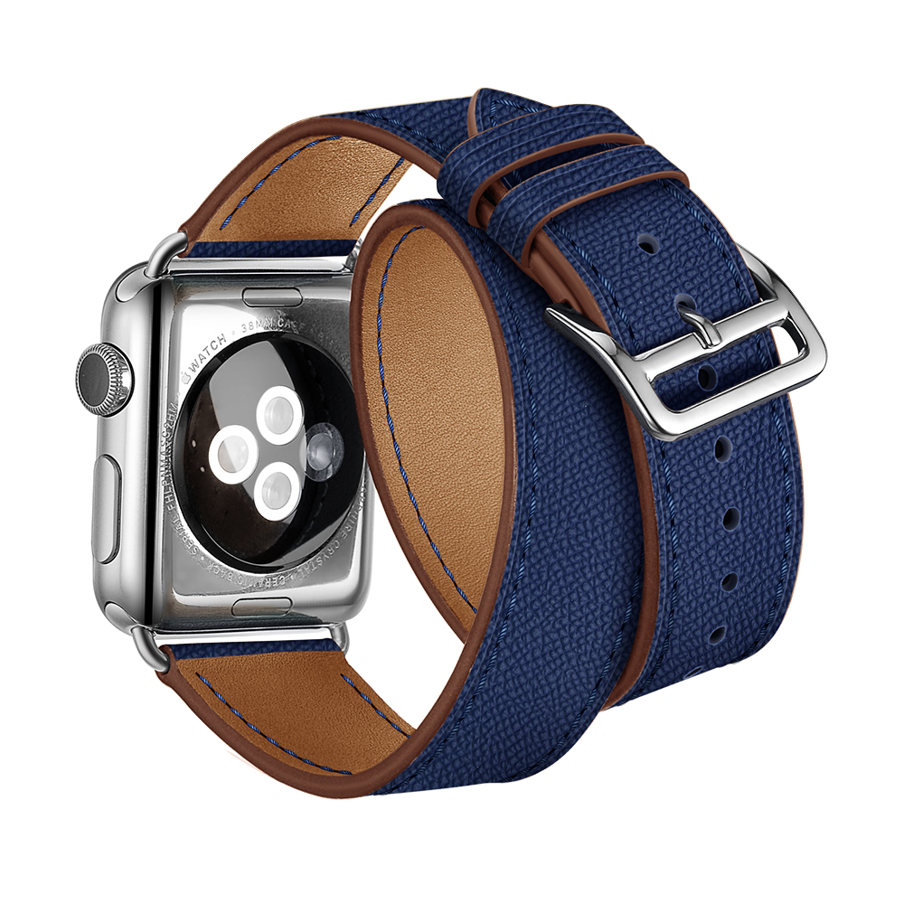 LEONIDAS Genuine Leather Double Tour for Apple Watch Band Replacement Extra Long Watch Strap for Apple Watch Bands 42mm And 38 leonidas genuine leather double tour for apple watch band replacement extra long watch strap for apple watch bands 42mm and 38