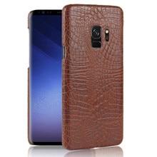 цена на For Samsung S9 Case Quality PC Crocodile Grain Back Cover Hard Case for Samsung Galaxy S9 S 9 G960 G9600 SM-G960F G960F SM-G960U