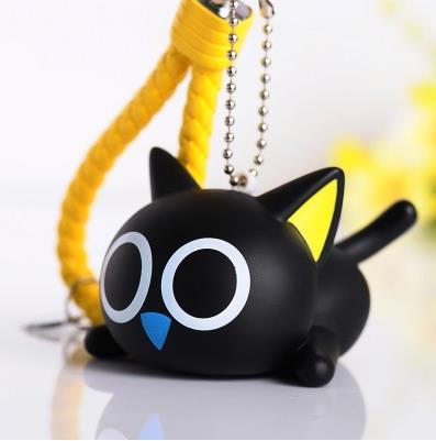 Dropwow Cute Creative Black Cat Keychain Kitty Rabbit Fur Ball Key ... 4d9d4275bc82f
