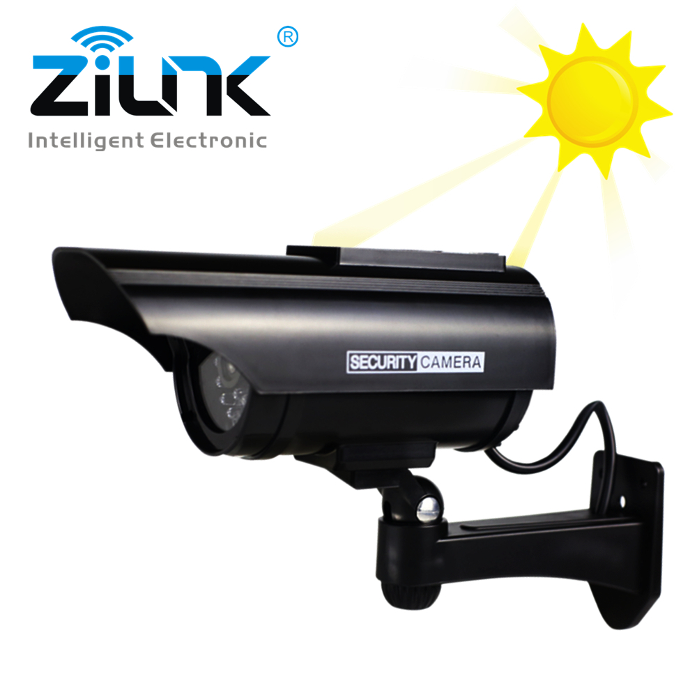 купить Solar Power Fake Camera Outdoor Security Waterproof Dummy Camera With Flashing Red LED CCTV Surveillance Camera Wholesale