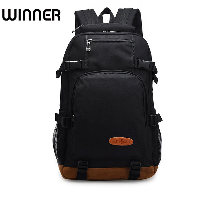 Waterproof Cool Backpack Men Preppy Style Bagpack High Middle School Student Bookbag Black Bag For