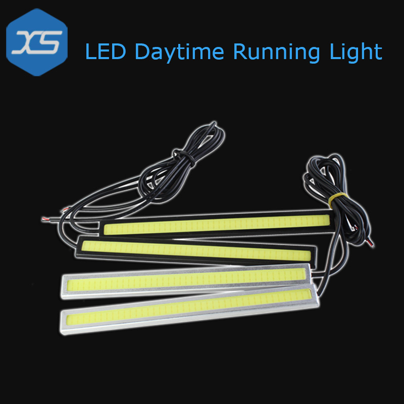 2X 14Cm 17Cm Drl Bar Car Led White Flexible Daytime Running Lights ...